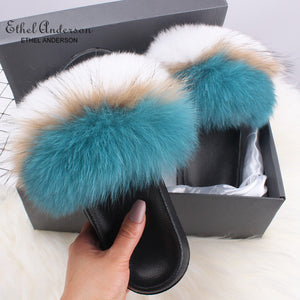 HTB THERESA Luxury Fur Slides (6.5-11)