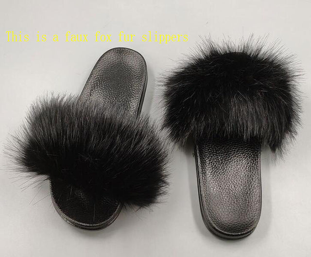 """WEDS ADAMS"" Foxy Furry Slippers (6-11)"