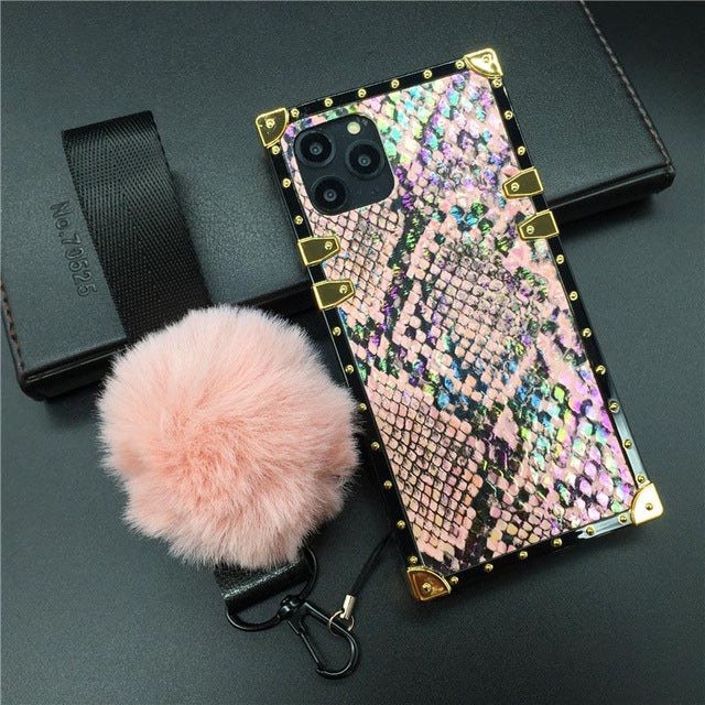 Vintage Snake Skin Case For iPhone