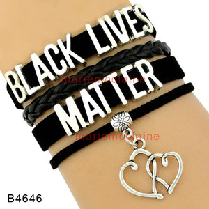 HTBlack Lives Matter Heart Leather