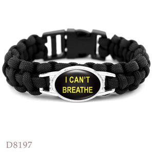 BRAIDED ROPE Black Lives Matter bracelet