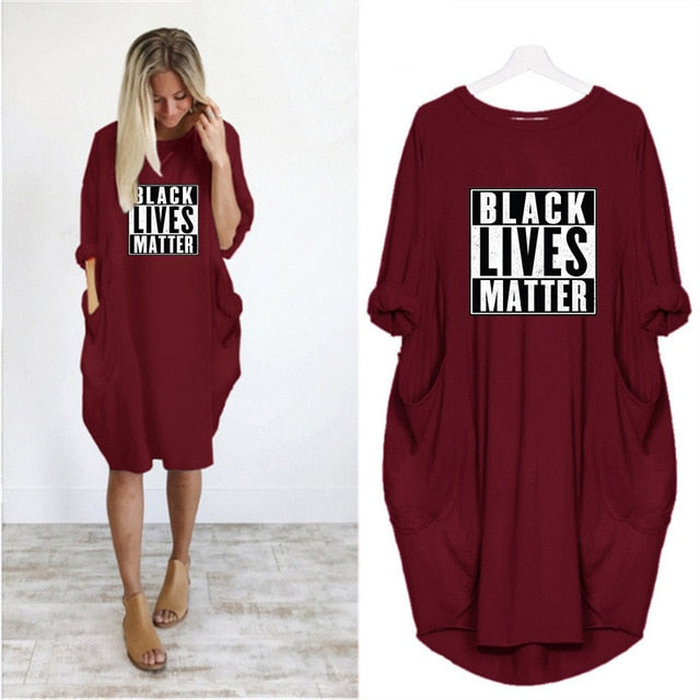 """BLACK LIVES MATTER"" Vestido HTB Dress (S-5XL)"