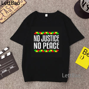 NO JUSTICE, NO PEACE HTB T-shirt (XS-XL)