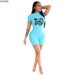 """BLACK GIRLS ROCK"" HTBodycon Romper (S-XL)"