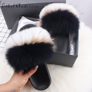 HTB PETUNA Luxury Fur Slides (6.5-11)