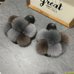 Luxury HTB Fur Ball slippers (6-12)