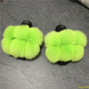Luxury HTB Fur Ball slippers(6-12)