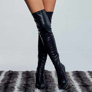 """EBONY"" Thigh-high HTBoots (5-10)"