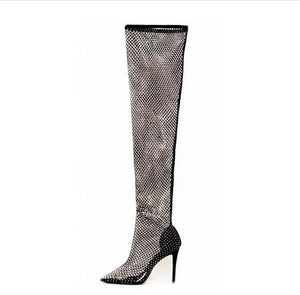 """DIAMOND"" Hollow Thigh-high HTBoots (4.5-10.5)"