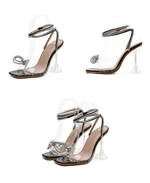 """BLINGY BOW"" HTBabe Heels (4-11)"