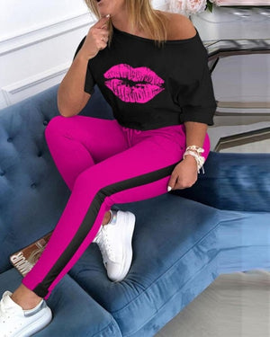 """SMOOCHES"" 2pc HTBabe set (S-5XL)"