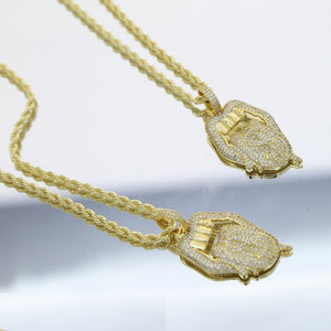 """GOLDEN MOUTH"" Pendant HTB Necklace"