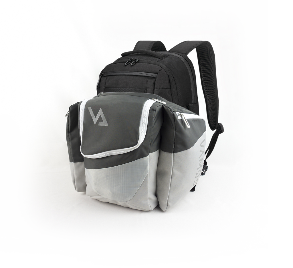 Vamose Attachable Gym Bag on a Backpack