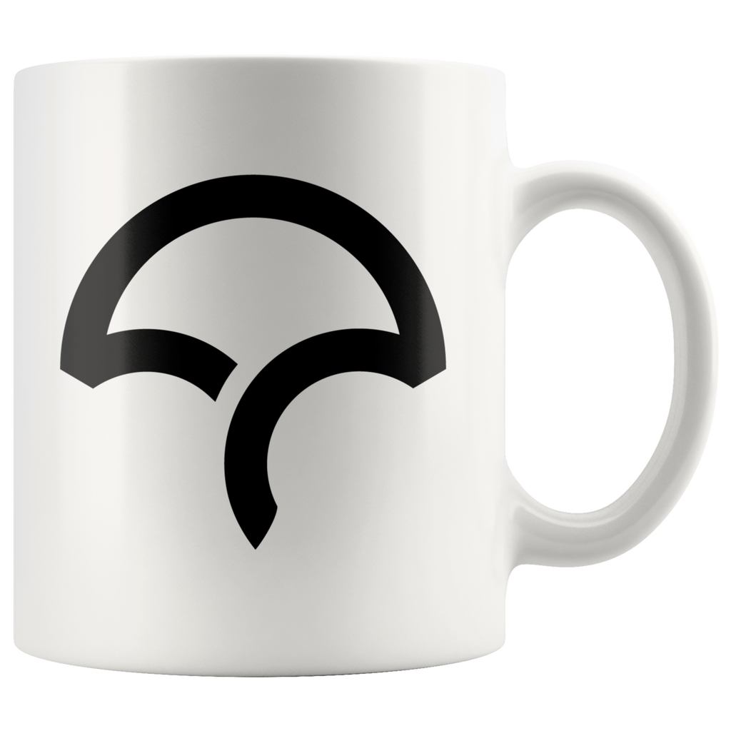 White 11oz Mug - Icon - Black
