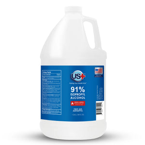1 Gallon US+ 91% Isopropyl Alcohol Bulk - USP/Medical Grade