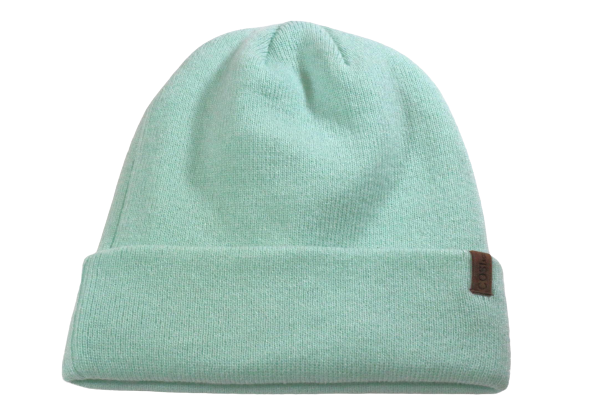 The Fit Beanie in Mint Green - COSI & co.