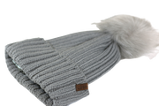 The Knit Pom in Grey - COSI & co.