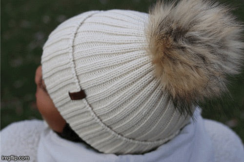 The Knit Pom in Beige - COSI & co.
