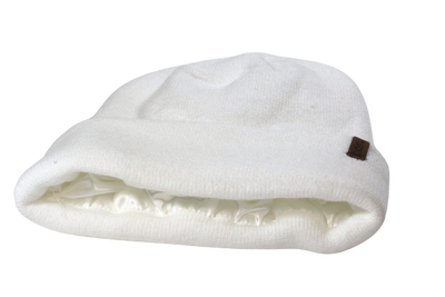 The Fit Beanie in White - COSI & co.