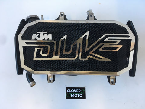 Used OEM KTM Duke 125 Cooling Radiator With Fan