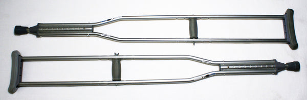 ALUMINUM ADJUSTABLE CRUTCHES & ACCESSORIES   33-1406, 33-1410, 33-1412 & 33-1414