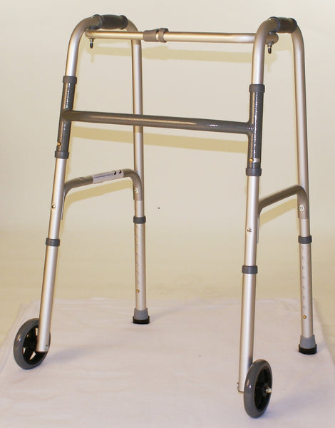 FOLDING WALKER WITH WHEELS   33-1407
