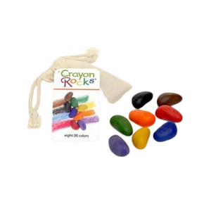 Crayon Rocks - 8 Primary Colours in Muslin Bag