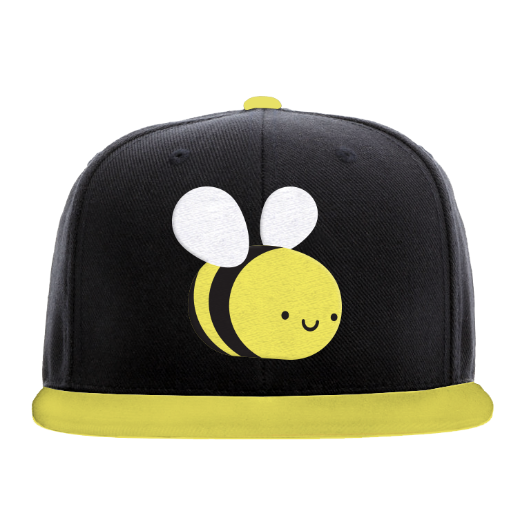 Kawaii Bee Flat Brim Cap