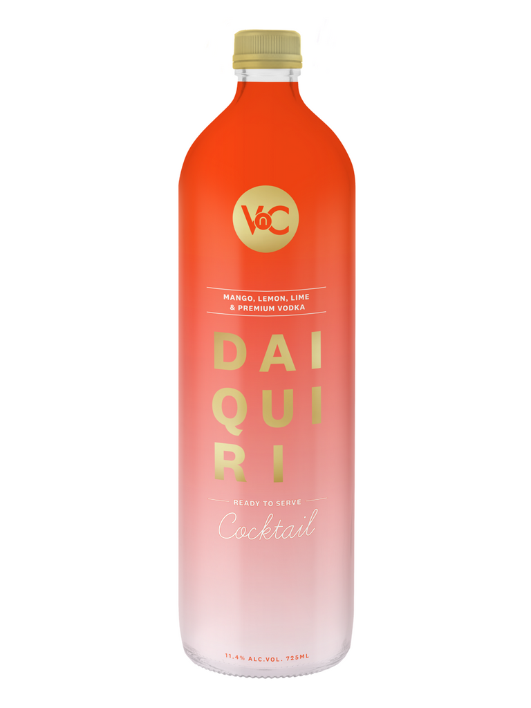 VnC Daiquiri ready to serve cocktail made with  Mango, Lemon, Lime and Premium Vodka