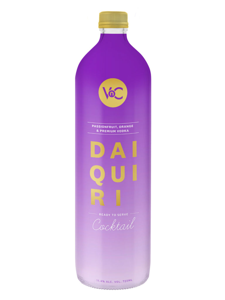 VnC Passionfruit Daiquiri ready to serve premium cocktail. Made with passionfruit, orange and premium vodka