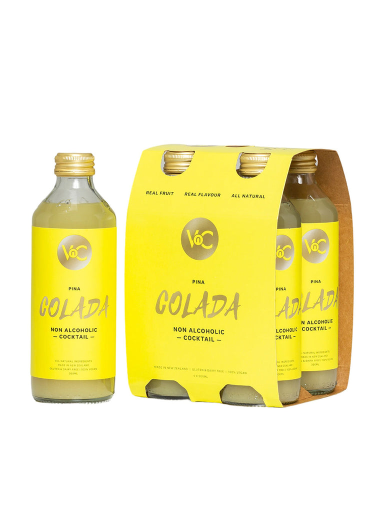 4 pack of VnC Pina Cola Ready Made bottles of cocktails