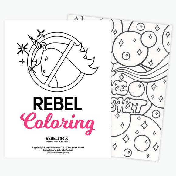 Rebel Coloring- Adult Coloring for Rebels- Digital Download