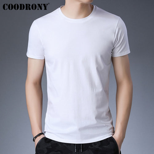 COODRONY Summer Short Sleeve T Shirt Men Casual Tshirt Cotton T-Shirt Men Solid Color Tops Classic O-Neck Tee Shirt Homme S95150 - Kourishop