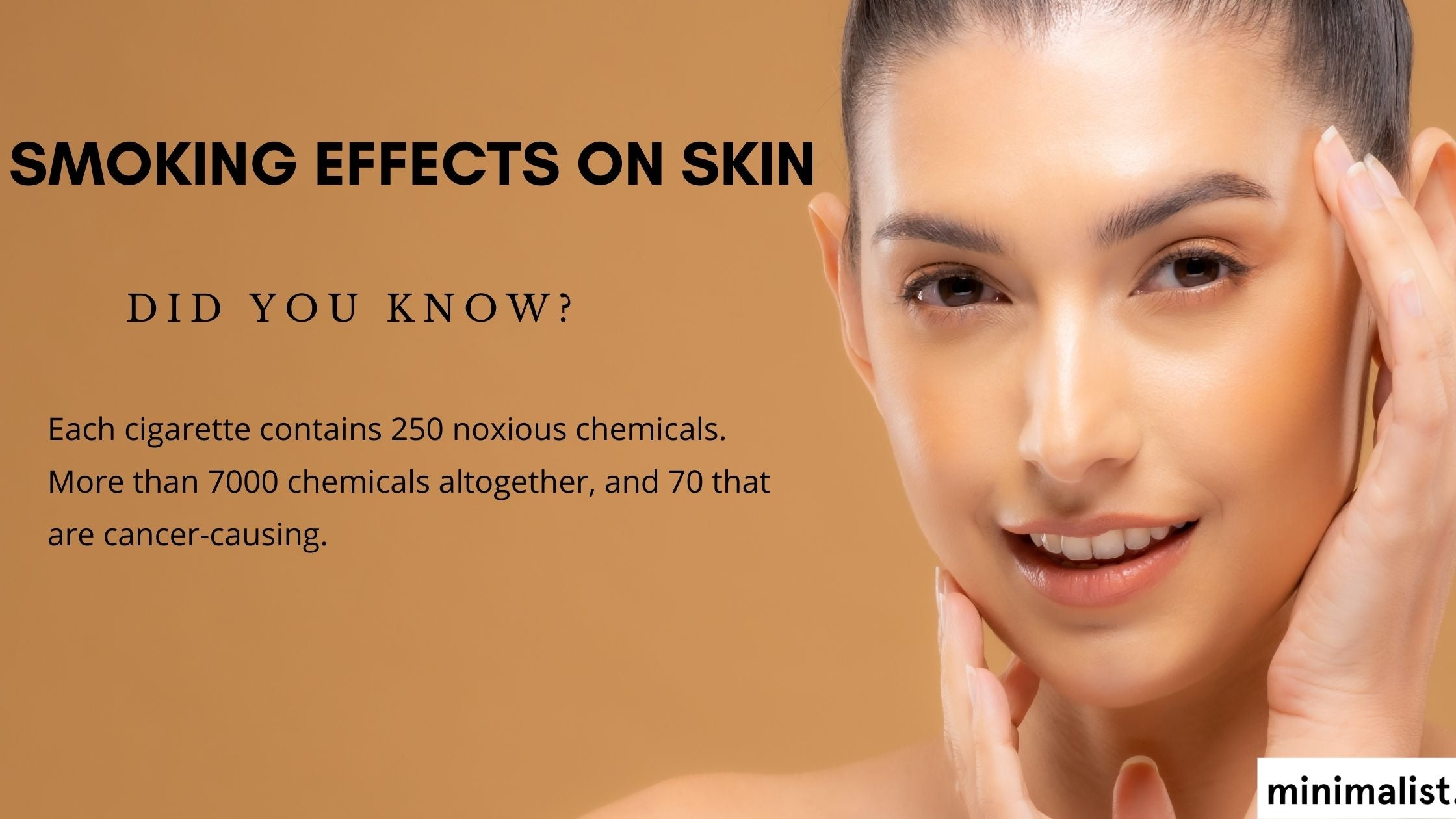 How does smoking damage your skin?