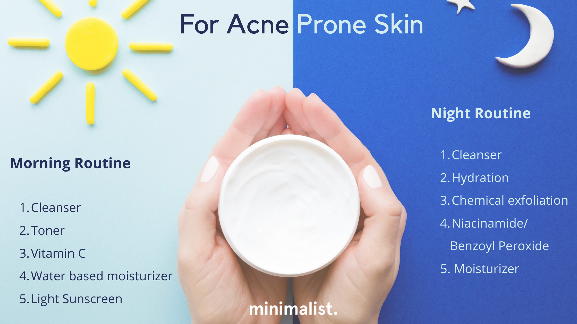 A Daily Skincare Routine For Oily Acne Prone Skin Minimalist