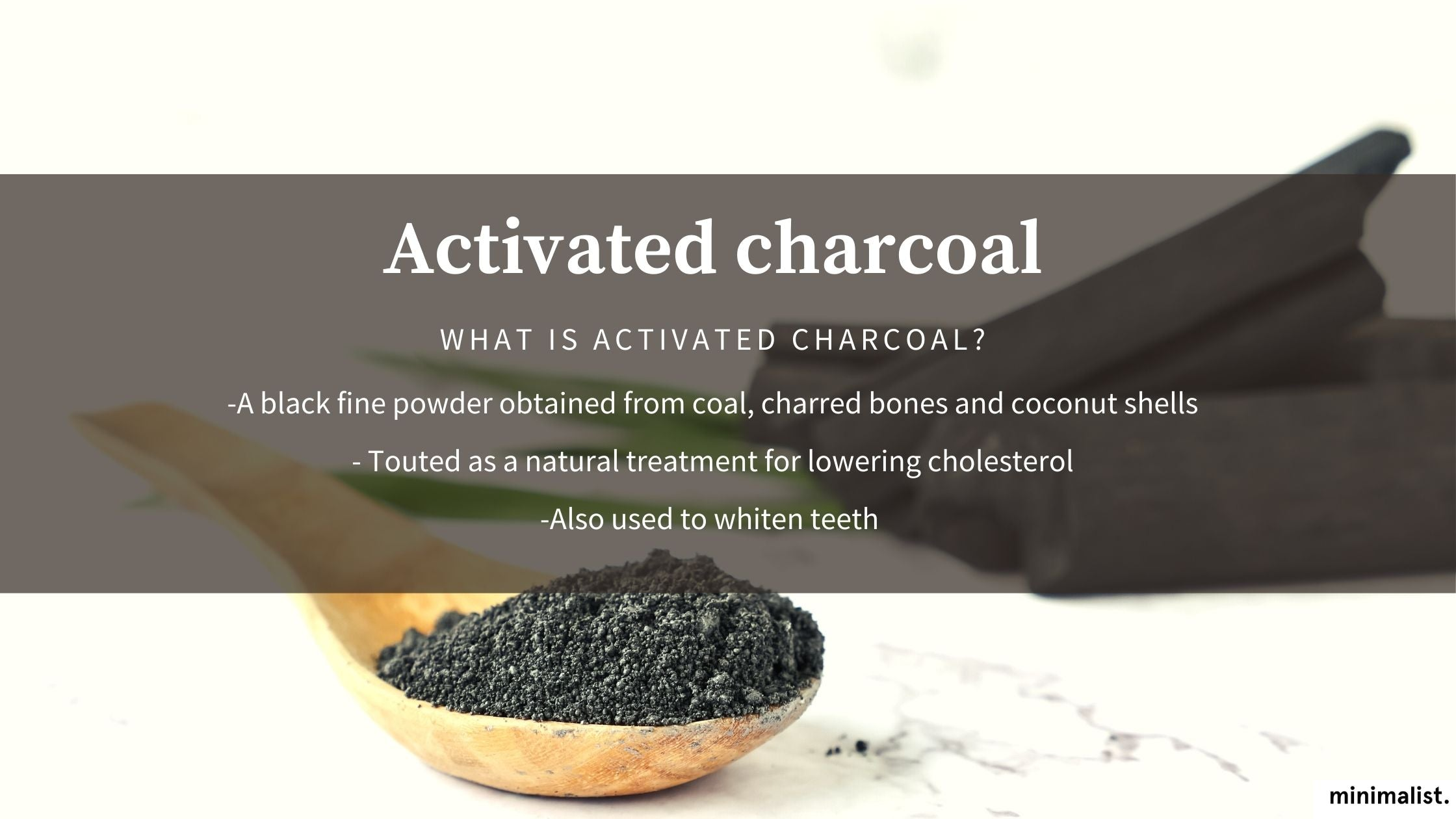 how is activated charcoal different