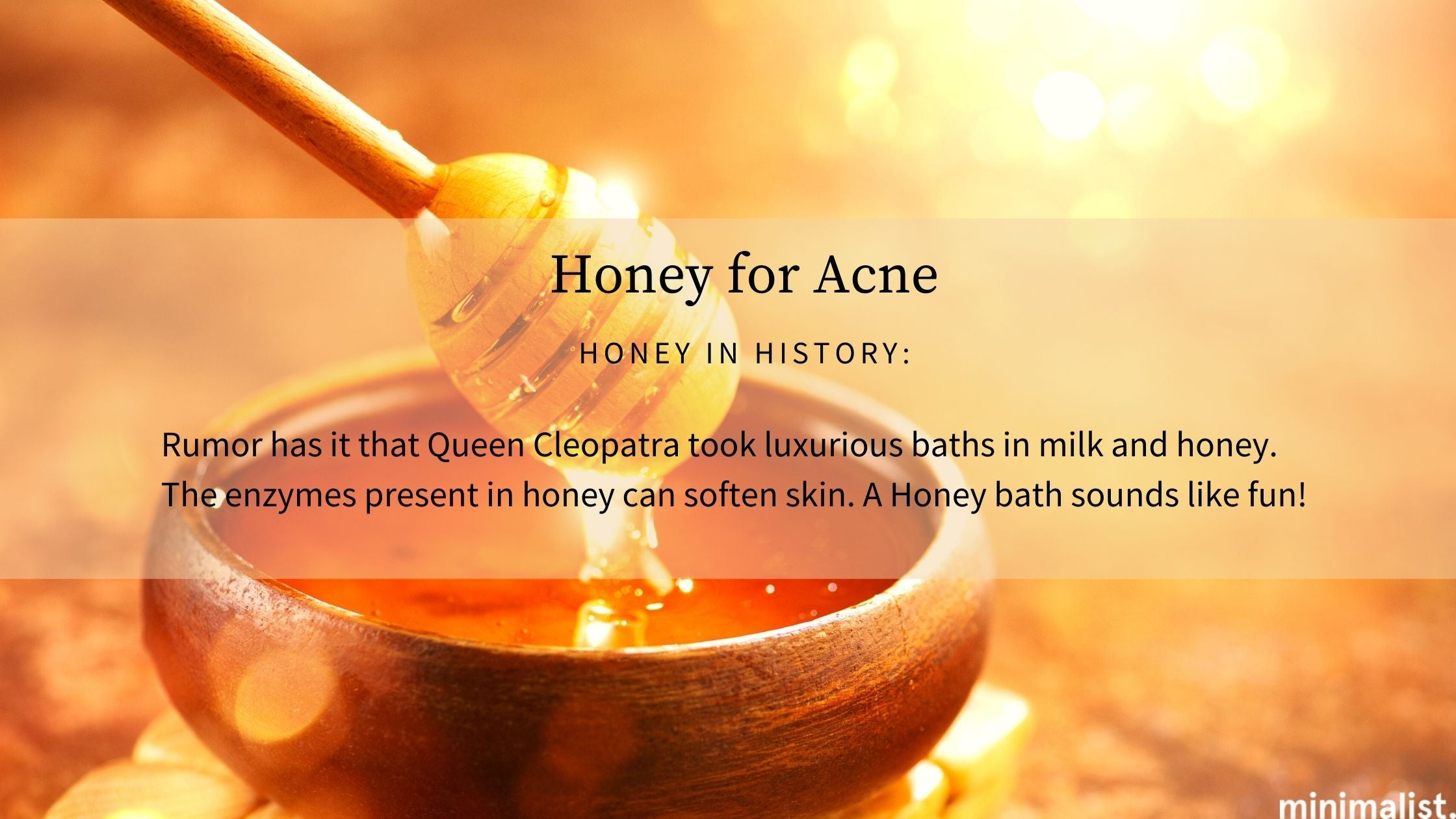 How good is honey for skin