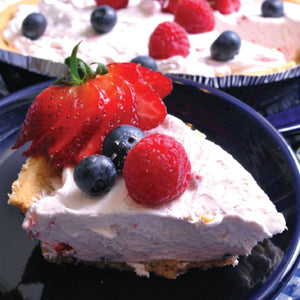 Three Berry No Bake Cheesecake