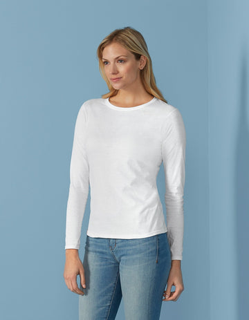 64400L Gildan Softstyle Ladies Long Sleeve T-Shirt