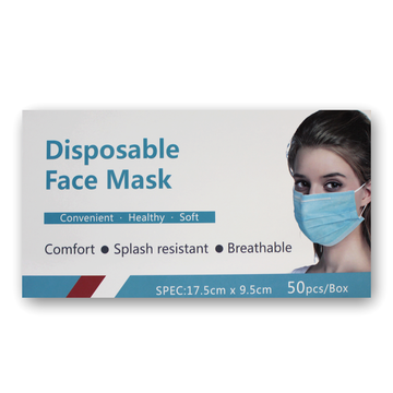 Face Mask 3 ply (carton of 50 pieces)