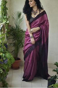 Appealing Light Maroon Color Cotton Linen Digital Print Saree IS2527