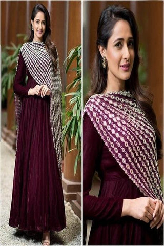 Traditional Maroon Color Cotton Suit With Multicolour Dupatta IS682