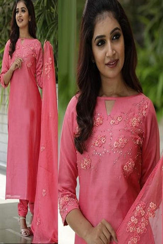 Beautiful Pink  Color Designer Kurti Set IS698