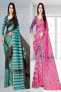 Two Designer Heavy Fabric Saree Combo Set IS1579