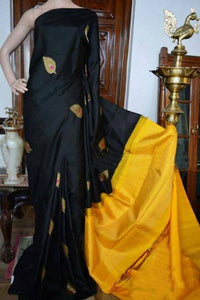Black n Yellow Pallu Color Designer Saree IS305
