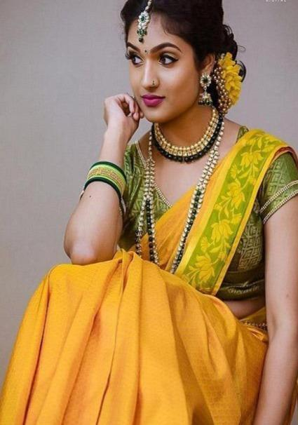 Fascinating Pure Soft Silk Yellow Colour Saree IS260