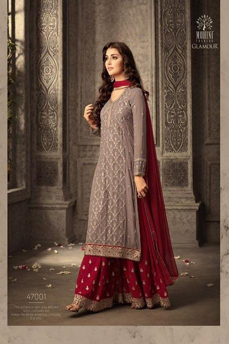 Admirable Greay Color Designer Sarara And Kurti IS3259