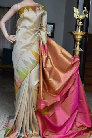 Designer Ethnic Organza Silk Fancy Rani Saree IS8