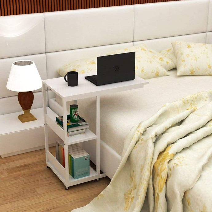 Bed Table with Book Shelf