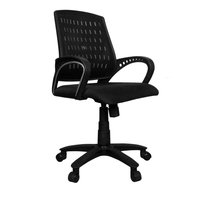 Mesh Back Home Office revolving Chair with tilting Mechanism (Standard, Black)